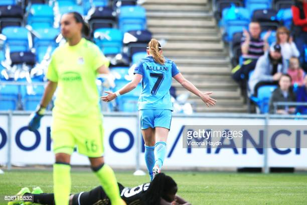 Manchester City's Kosovare Asllani scores the first goal for city