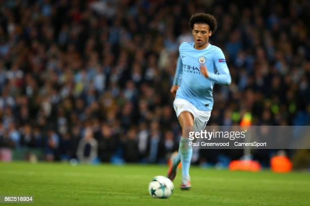 Manchester City's Leroy Sane during the UEFA Champions League group F match between Manchester City and SSC Napoli at Etihad Stadium on October 17...