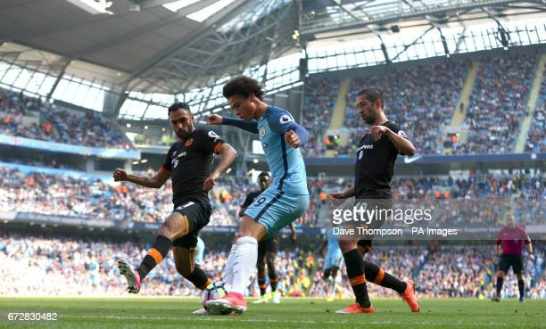 Manchester City's Leroy Sane in action during the Premier League match at the Etihad Stadium Manchester