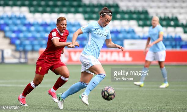 Manchester City's Lucy Bronze in action against Liverpool