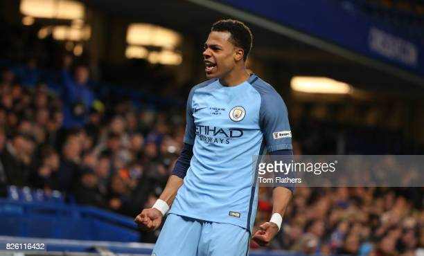 Manchester City's Lukas Nmecha celebrates scoring in the FA Youth Cup Final against Chelsea A78Q8756jpg