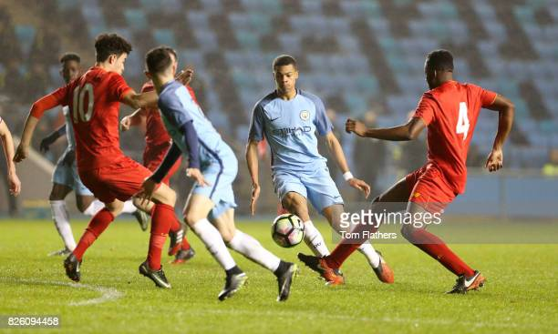 Manchester City's Lukas Nmecha in action against Liverpool in the FA Youth Cup