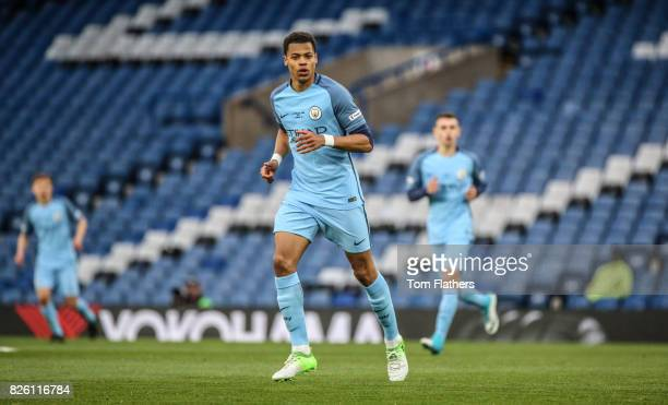 Manchester City's Lukas Nmecha in action in the FA Youth Cup Final