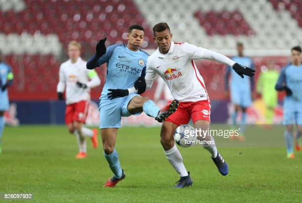 Manchester City's Lukas Nmecha in action