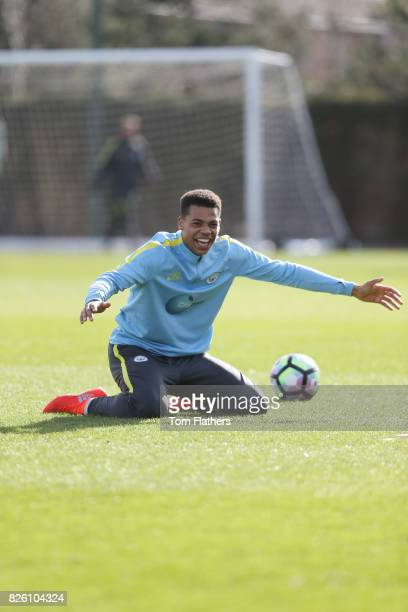 Manchester City's Lukas Nmecha in training