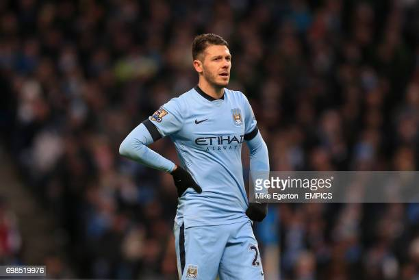 Manchester City's Martin Demichelis looks dejected after the final whistle