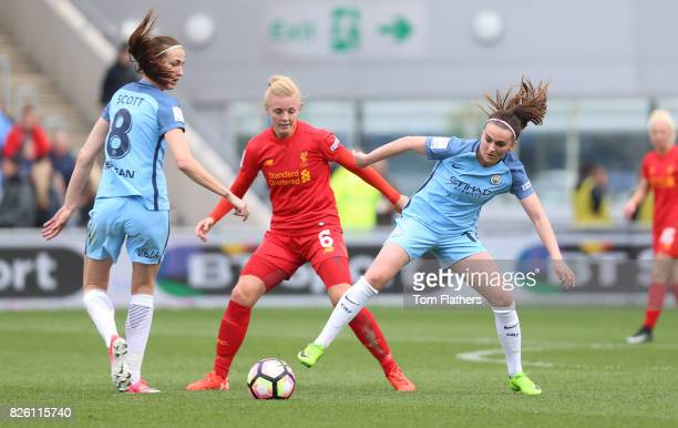 Manchester City's Melissa Lawley in action against Liverpool