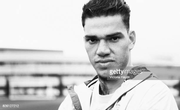 Manchester City's new signing Brazilian goalkeeper Ederson during a photoshoot at the City Football Academy Original picture date is 30th May 2017
