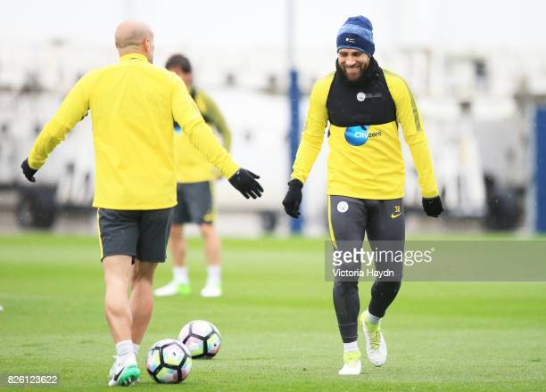 Manchester City's Nicholas Otamendi during training