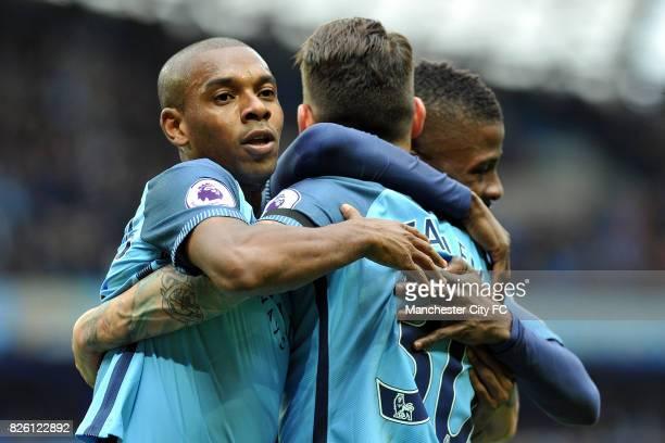 Manchester City's Nicolas Otamendi celebrates his goal