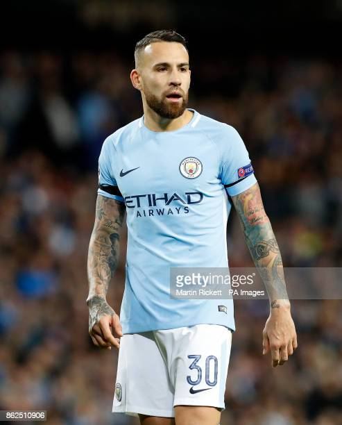 Manchester City's Nicolas Otamendi during the UEFA Champions League group F match at The Etihad Stadium Manchester PRESS ASSOCIATION Photo Picture...