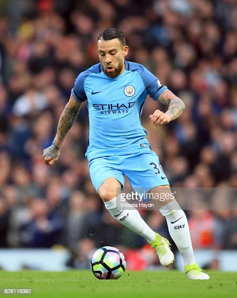 Manchester City's Nicolas Otamendi in action