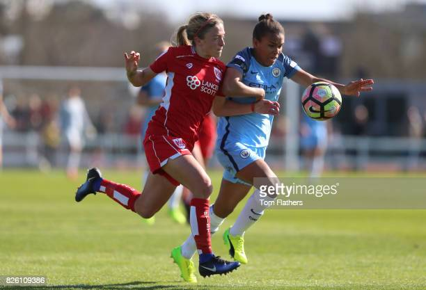 Manchester City's Nikita Parris in action against Bristol City