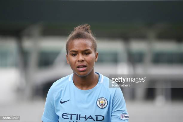 Manchester City's Nikita Parris looks on during the WSL 1 match between Manchester City Women and Arsenal Ladies at Manchester City Football Academy...