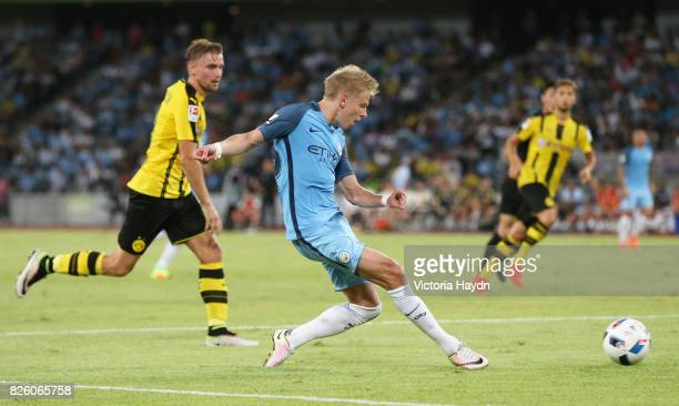 Manchester City's Oleksandar Zinchenko in action