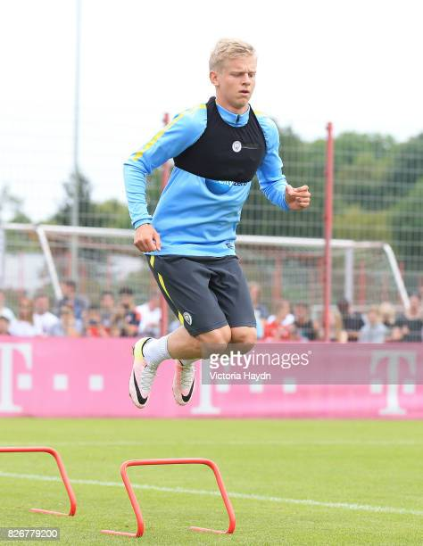 Manchester City's Oleksander Zinchenko in training