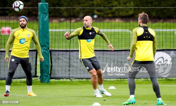 Manchester City's Pablo Zabaleta in training