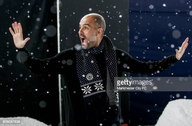 Manchester City's Pep Guardiola attending the official Manchester City christmas Jumper shoot of 2016