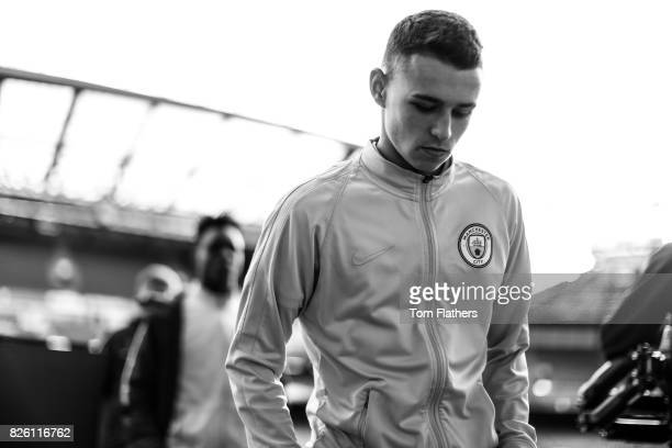 Manchester City's Phil Foden before the FA Cup Youth Final against Chelsea