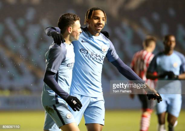 Manchester City's Phil Foden celebrates scoring against Southampton