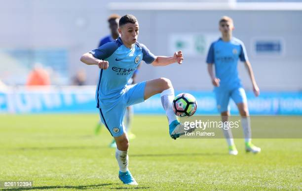 Manchester City's Phil Foden in action against Chelsea
