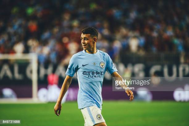 Manchester City's Phil Foden in action at NRG Stadium on July 20 2017 in Houston Texas