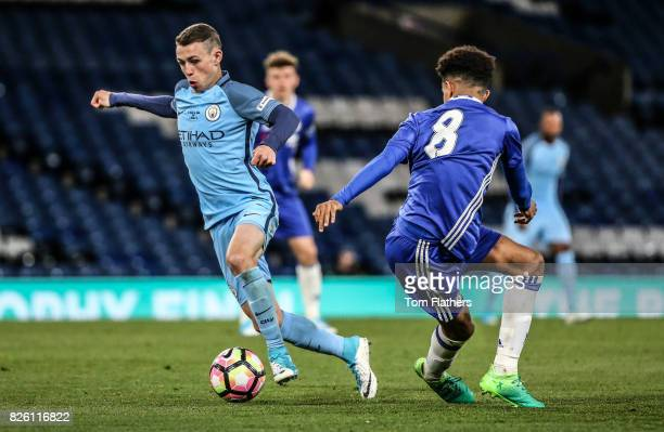 Manchester City's Phil Foden in action in the FA Youth Cup Final