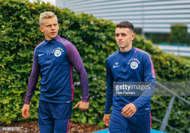 Manchester City's Phil Foden walks to training at Manchester City Football Academy on September 7 2017 in Manchester England