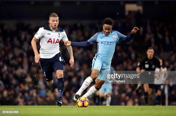 Manchester City's Raheem Sterling and Tottenham Hotspur's Toby Alderweireld