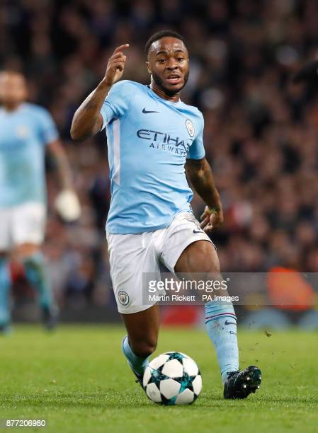 Manchester City's Raheem Sterling during the UEFA Champions League Group F match at the Etihad Stadium Manchester PRESS ASSOCIATION Photo Picture...