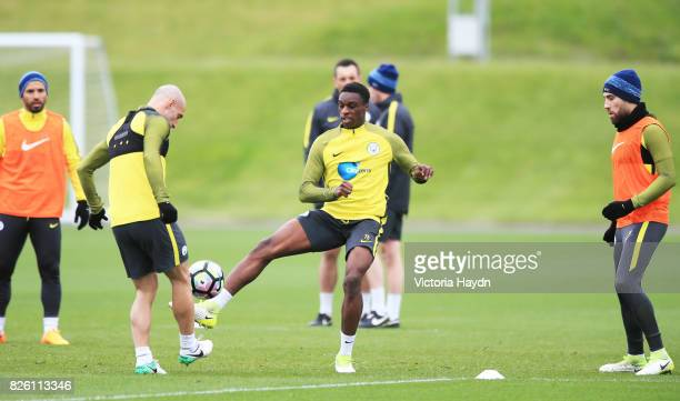 Manchester City's Rodney Kongolo during training