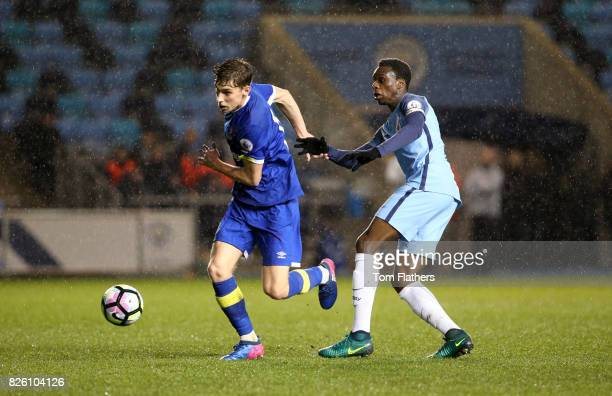Manchester City's Rodney Kongolo in action against Everton