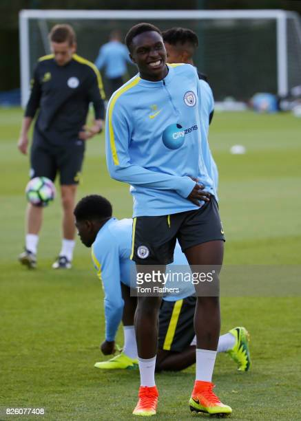 Manchester City's Rodney Kongolo in action in training