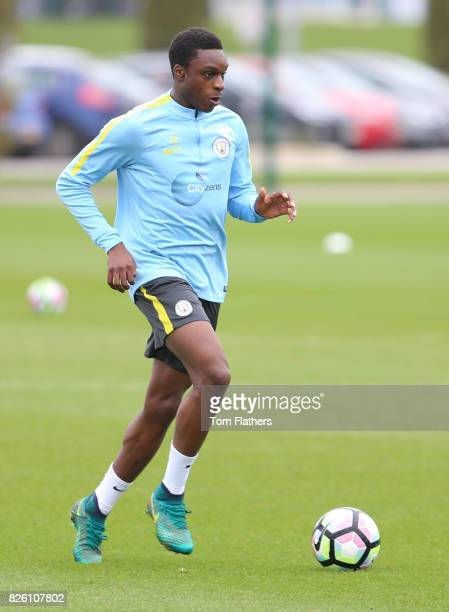 Manchester City's Rodney Kongolo in training