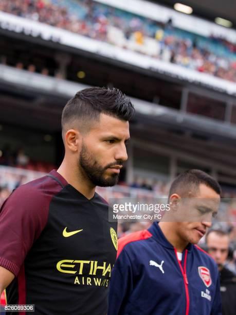 Manchester City's Sergio Aguero and Arsenal's Alexis Sanchez