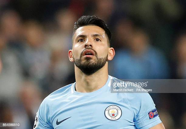 Manchester City's Sergio Aguero during the UEFA Champions League Group F match at the Etihad Stadium Manchester PRESS ASSOCIATION Photo Picture date...