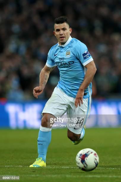 Manchester City's Sergio Aguero in action