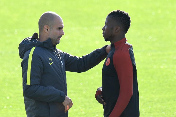 FBL-EUR-C1-BARCELONA-MAN CITY-TRAINING : News Photo