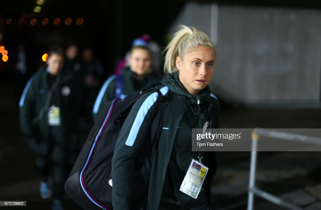 Manchester City's Steph Houghton arrives at Arasen Stadion ahead of the the UEFA Women's Champions League match between LSK Kvinner and Manchester City Ladies at Arasen Stadion on November 9, 2017 in Lillestrom, Norway.