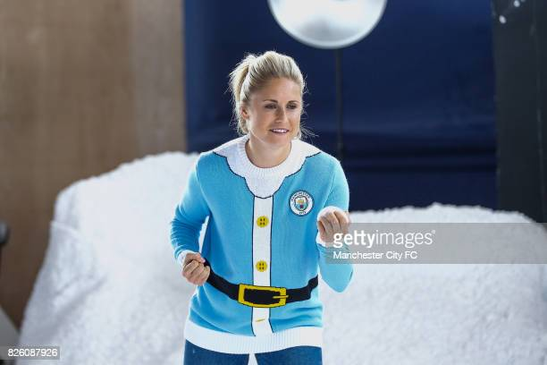 Manchester City's Steph Houghton attending the official Manchester City christmas Jumper shoot of 2016