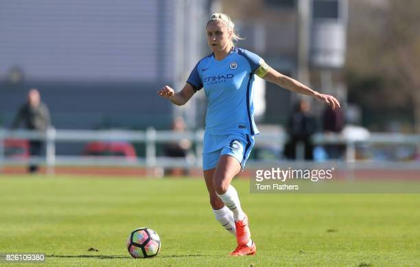 Manchester City's Steph Houghton in action against Bristol City
