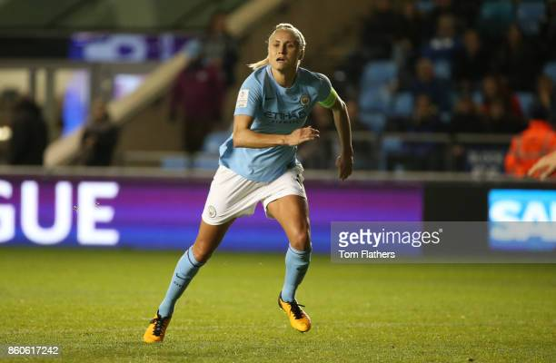 Manchester City's Steph Houghton in action during the UEFA Women's Champions League match between Manchester City Ladies and St Polten Ladies at...