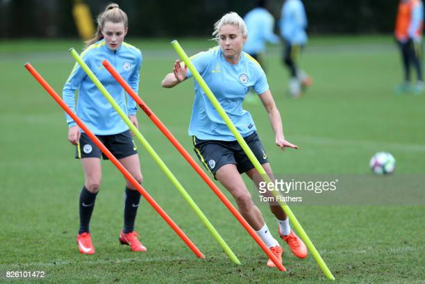 Manchester City's Steph Houghton in training