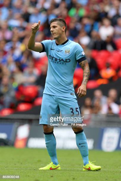 Manchester City's Stevan Jovetic during the Community Shield match at Wembley Stadium London