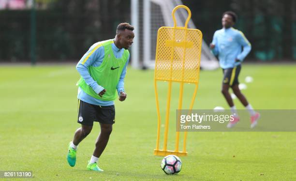 Manchester City's Thierry Ambrose in training