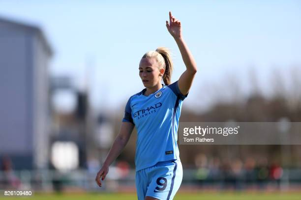 Manchester City's Toni Duggan in action against Bristol City