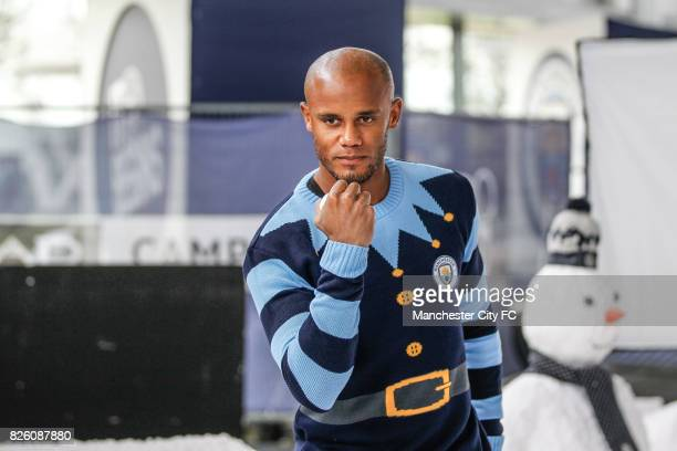Manchester City's Vincent Kompany attending the official Manchester City christmas Jumper shoot of 2016