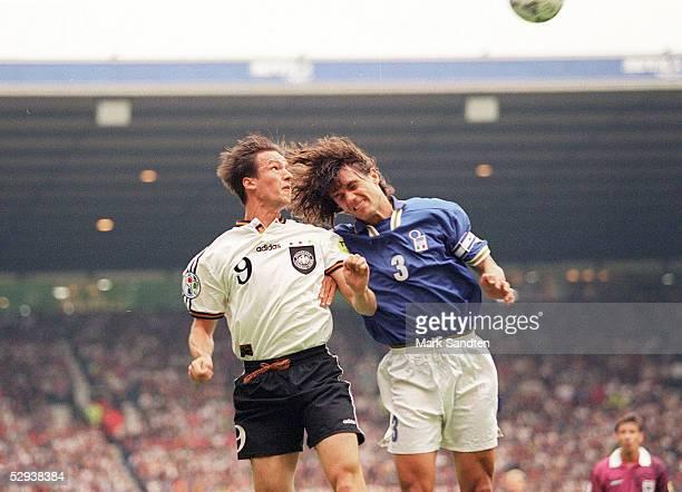 EURO 1996 Manchester Italien Deutschland 00 Fredi BOBIC/GER Paolo MALDINI/ITA