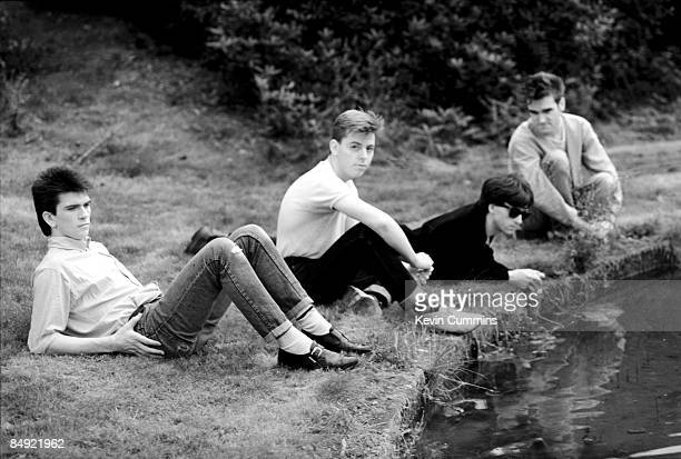 Manchester rock group The Smiths 7th September 1983 Left to right drummer Mike Joyce bassist Andy Rourke guitarist Johnny Marr and singer Morrissey