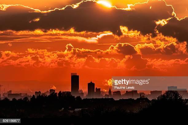 Manchester Sunset in November